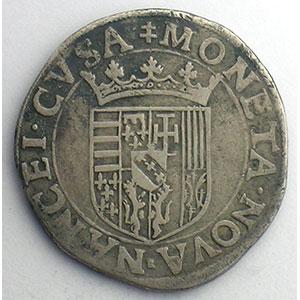 Teston au buste viril  F (Ferry 1575-1581)    TB