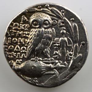 Tétradrachme   (2° siècle av.JC)   monétaires SOCRATES, DIONISODOS    TTB