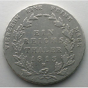 Thaler   1813 B  (Breslau)    B/TB