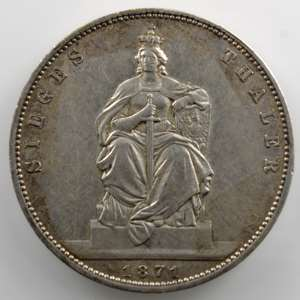 Thaler  1871 A   Victoire de 1871 sur la France    TTB+
