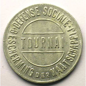 Tournai   Défense Sociale   10 (c)   Alu, R   24mm    TTB