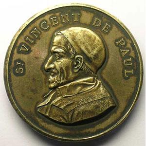 TROTIN   médaille en argent doré   poinçon abeille (1860-1880)   51mm    SUP