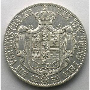 Vereinstaler   1859    TB+/TTB