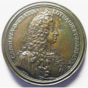 Victoire sur les Turcs   1686   bronze  87mm    TTB