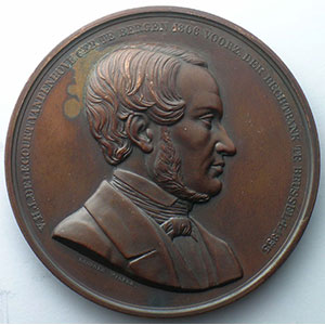 WIENER Léop.   1854   bronze   62,5mm    SUP