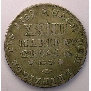 XXIIII Mariengroschen (2/3 thaler)   1789 MC    TB